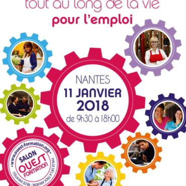 Rejoignez-nous au Salon Ouest-Formation le 11 janvier à Nantes